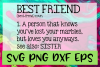 Best Friend Quote Definition SVG PNG DXF & EPS Design Files example image 1