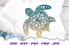 Mandala Sea Turtle SVG DXF Cut Files Crafters Bundle example image 8