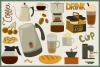 75 Coffee and Tea Vector Clipart & Seamless Patterns example image 3