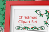 Christmas Holly Berries Divides Clipart Set Download example image 4