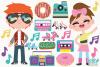 Retro Summer Fun Clipart, Instant Download Vector Art example image 2