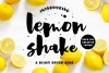 Lemon Shake, a heavy brush font example image 1