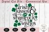 St Patrick's Day SVG, Irish Kisses and Shamrock Wishes SVG example image 2
