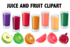 Juice and Fruit Smoothie Clipart example image 1
