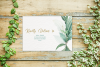 Greenery Wedding Invitation Template Set, Botanical example image 5