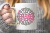 Mandala love SVG / PNG / EPS / DXF Files example image 2