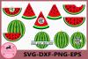 Watermelon SVG, Monogram Watermelons SVG Frames, Watermelon example image 1