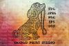 Puppy svg, Zentangle SVG, Dog svg, Pet SVG, Mandala svg example image 1