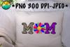 Mom - Doodle - Flower - PNG - JPEG - Sublimation example image 1