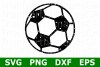 Grunge Soccer Ball - A Sports SVG Cut File example image 1