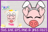 Easter   Pig Face SVG Cut File example image 1