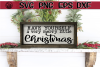 Merry Little Christmas - Wood Sign - SVG PNG EPS DXF example image 1