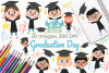 Graduation Day Clipart, Instant Download Vector Art example image 1
