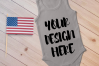 4th July Singlet Baby Bodysuit Mockups - 7 example image 5