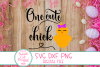 One Cute Chick SVG, Easter Girl SVG, Easter SVG,DXF,Girl SVG example image 3