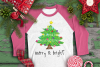 CHRISTMAS - Painted Merry & Bright Tree example image 1