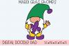 Mardi Gras Gnomes SVG, Silhouette and Cricut Cut Files example image 4