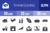 50 Thanksgiving Glyph Icons example image 1