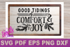 SVG Christmas Comfort and Joy DIY Sign stencil farmhouse example image 4