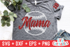 Baseball Mama | Softball Mama | SVG Cut File example image 1