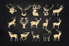 Deer Clipart, Antler Clip Art, Gold Glitter Digital Deers example image 4