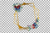 Watercolor elegant floral borders clip art. Wedding frames example image 13