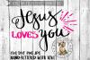 Jesus Loves You - Handlettered  - SVG cut file example image 1