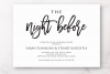 The Night Before Rehearsal Dinner Invitation Template Modern example image 2