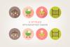 Round Baby Icons example image 4