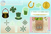 St Patricks Day Faux Leather Earring Necklace Pendant SVG example image 1