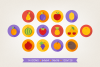 Round Fruits Icons example image 3