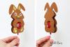 lollipop holder designs. Lamb, Rabbit, Duck and Penguin example image 3