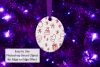Oval Christmas Ornament Mockup, Sublimation Mock-Up, PSD example image 8