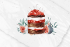 Christmas watercolor desserts example image 5