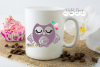 Owl SVG / EPS / DXF / PNG files example image 3