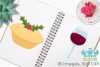 Christmas Dinner Clipart, Instant Download Vector Art example image 3