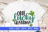 One lucky grandma - St. Patrick's Day SVG EPS DXF PNG example image 1
