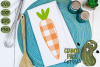 Plaid & Grunge Carrot Easter / Spring SVG Cut File example image 3