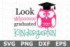 Whooo Graduated Kindergarten - A School SVG Cut File example image 2