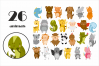 Cute Animals Vector Clipart example image 2