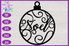 Christmas Word Ornaments SVG | Laser Cut Baubles SVG example image 13