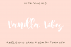 Vanilla Vibes Font Set example image 1