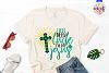 I don't need luck I've got jesus - St. Patrick's Day SVG EPS example image 2