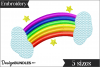 Rainbow Embroidery Design example image 1