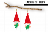Gnome Chrismtas Earrings Svg / Earrings Template example image 1