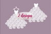 Wedding Dress SVG PNG EPS DXF example image 2