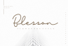 Blesson - Signature Font example image 11