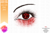 Red Awareness Ribbon Eye Printable Design example image 2