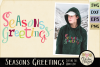Chistmas SVG - Seasons Greetings Word Art & Vector Clipart example image 1