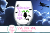 Witch Way To The Wine SVG, Adult Halloween SVG, Wine, Drink example image 3